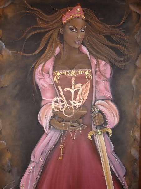 nude black african goddess