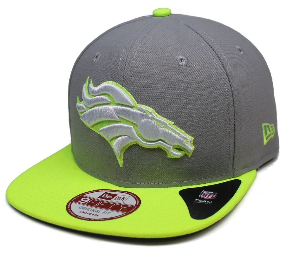 b5311198 1 Adult #NFL New Era Denver #Broncos Gray/neon Yellow 9fifty ...