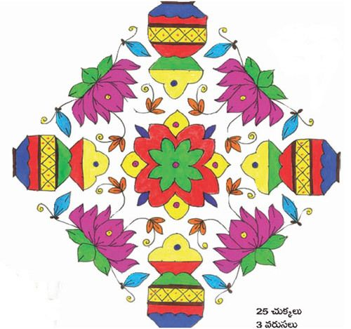 Muggulu Book With Dots For New Year
