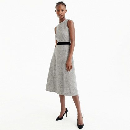 J.Crew Tall A-line dress with velvet tie