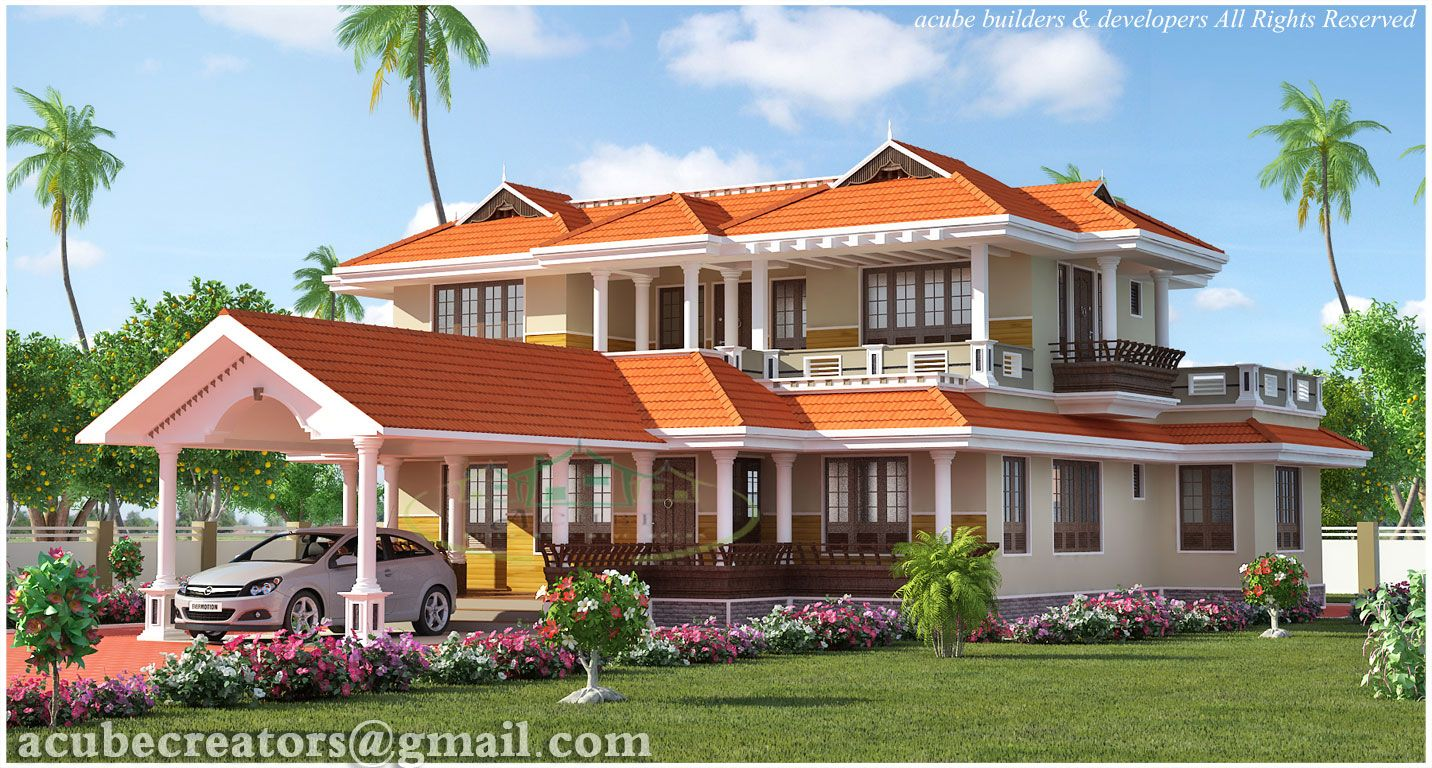 4 bedroom kerala style house elevation design 2847 sq ft for Elevation of kerala homes