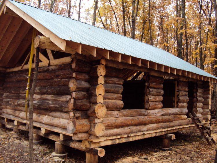 metal cabins Plywood and Metal Small log cabin, Log