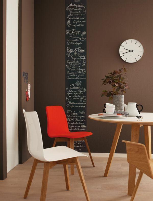 Wandfarbe Mocca - Wände streichen in eine kaffeebraune Farbnuance - küche tapezieren oder streichen
