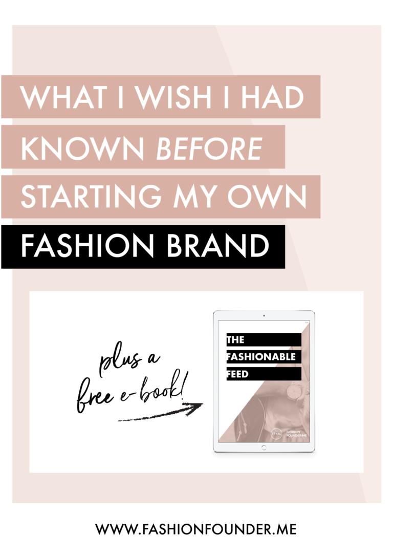 Don't start a fashion business without reading this post
