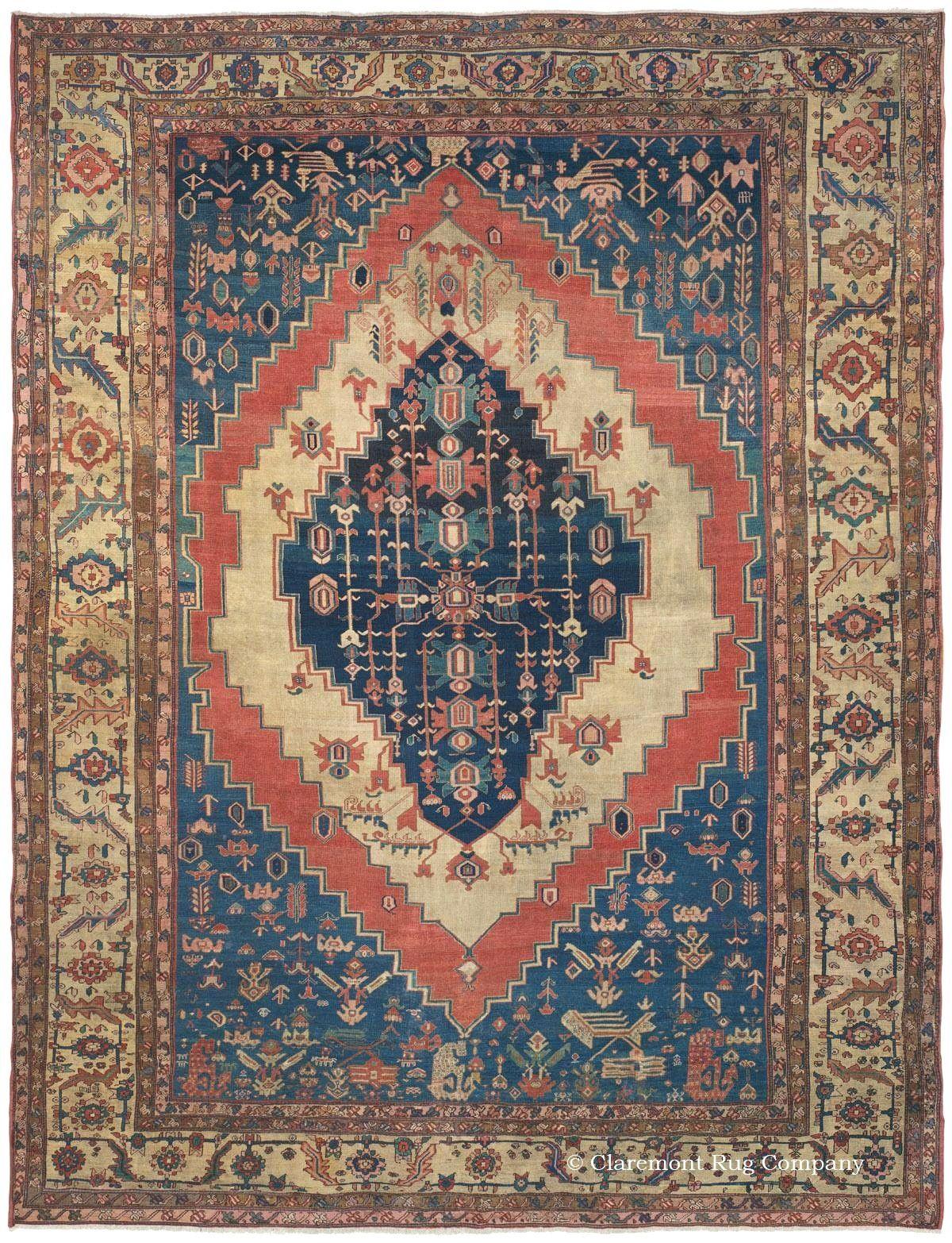 Persian bakshaish rug second quarter th century claremont