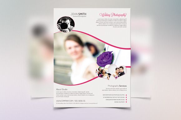 Wedding Flyer Template-V18 by Template Shop on @graphicsmag - wedding flyer