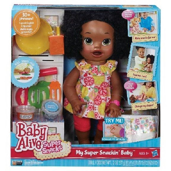Baby Alive Interactive Talking Baby Super Snacks Snackin