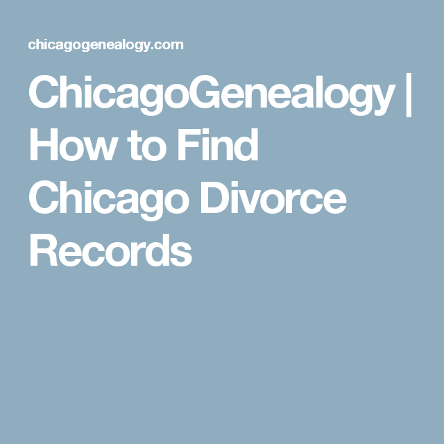 Divorce Records Search For: How To Find Chicago Divorce Records