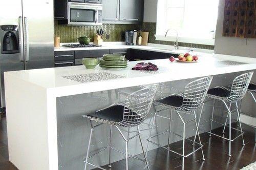 2 189 Thick Mitered Pure White Caesarstone Countertops