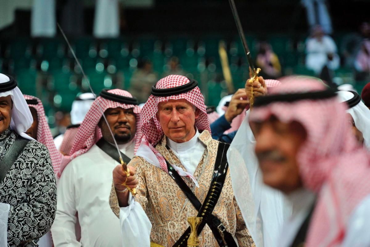 Prince Charles has been criticised for joining members of the Saudi royal family and taking part in an Ardah or sword dance… | Prince charles, Charles dance, Prince