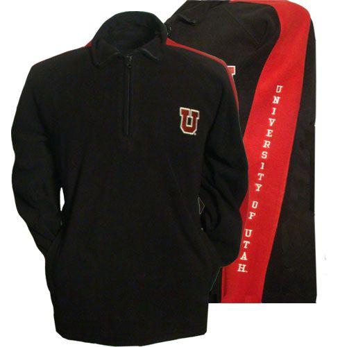 University of Utah Fleece Pull Over 1/4 Zip