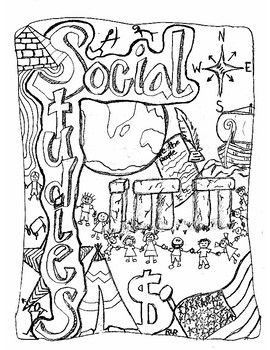 Cover Page For Social Studies Notebook Fits A Composition Notebook Or Larger Social Studies Notebook Interactive Notebooks Social Studies Social Studies