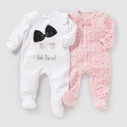 976249950 Pijama em veludo (lote de 2) 0 meses-3 anos R baby | conjuntos de ...