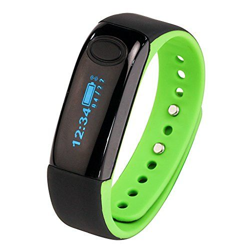 AIMOX Smart Wristband and Sport Band for Sleep Fitness Tracker Pedometer  Green >>> More info could be found at the image url.