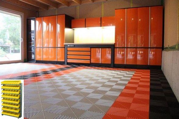 Velamp WORKSHOP L/ámpara de trabajo port/átil para uso en garaje taller Naranja compatible con LED Portal/ámparas E27 obra de construcci/ón con interruptor y cable de 10 m bodega 60 W