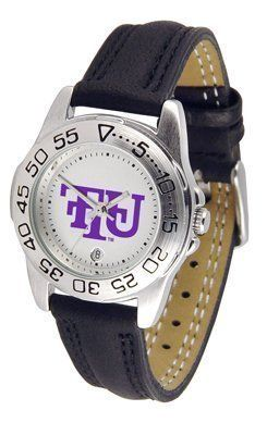 Tennessee Tech Golden Eagles Suntime Ladies Sports Watch w/ Leather Band - NCAA College Athletics by Sun Time/Links Warner. $41.95. The Lady's Sport AnoChrome Watch is a step up in the Lady's Sport series. The anochrome dial option increases the visual impact with a stunning radial reflection similar to that of the shiny underside of a music CD. A date calendar plus a rotating bezel/timer circles the scratch resistant crystal. Sport your team's bold, colorful, high quali...