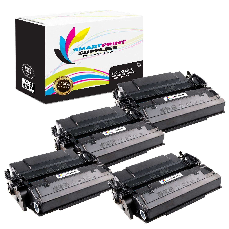 4 Pack Hp 87x Cf287x Replacement Black High Yield Micr Toner