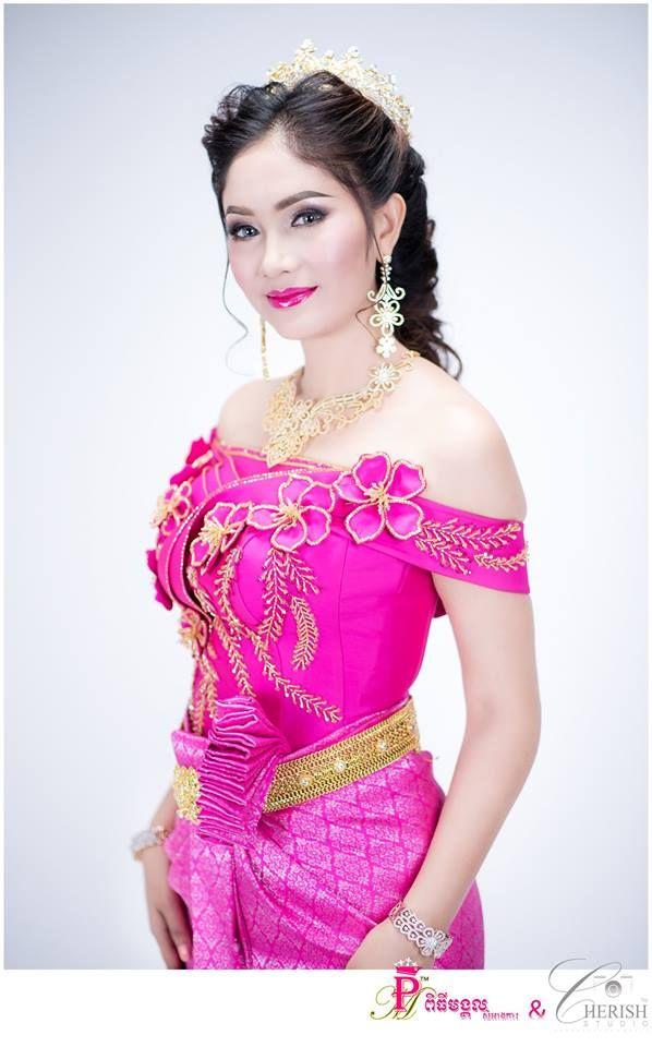 khmer wedding costume   Khmer Dress   Pinterest