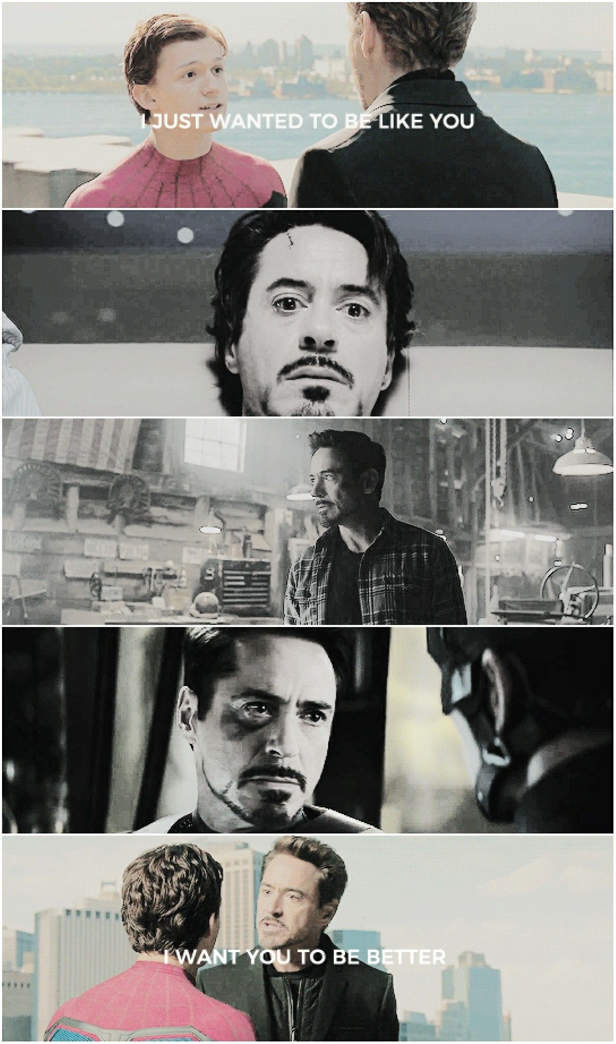 Tony would honestly be a good father. | Marvel And DC ...