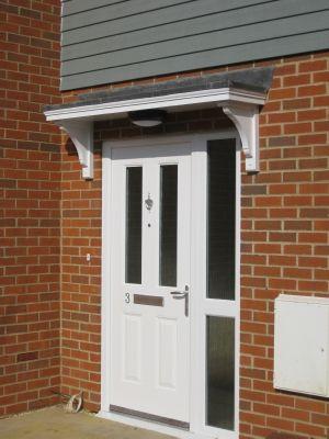 Timber door canopies _ flat roofed canopies _leaded canopies & Timber door canopies _ flat roofed canopies _leaded canopies ...
