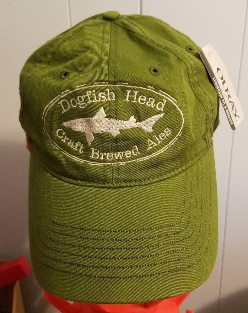 3cc07fe9e1588 NEW Dogfish Head Craft Brewery Green Cap Hat Adjustable  fashion  clothing   shoes