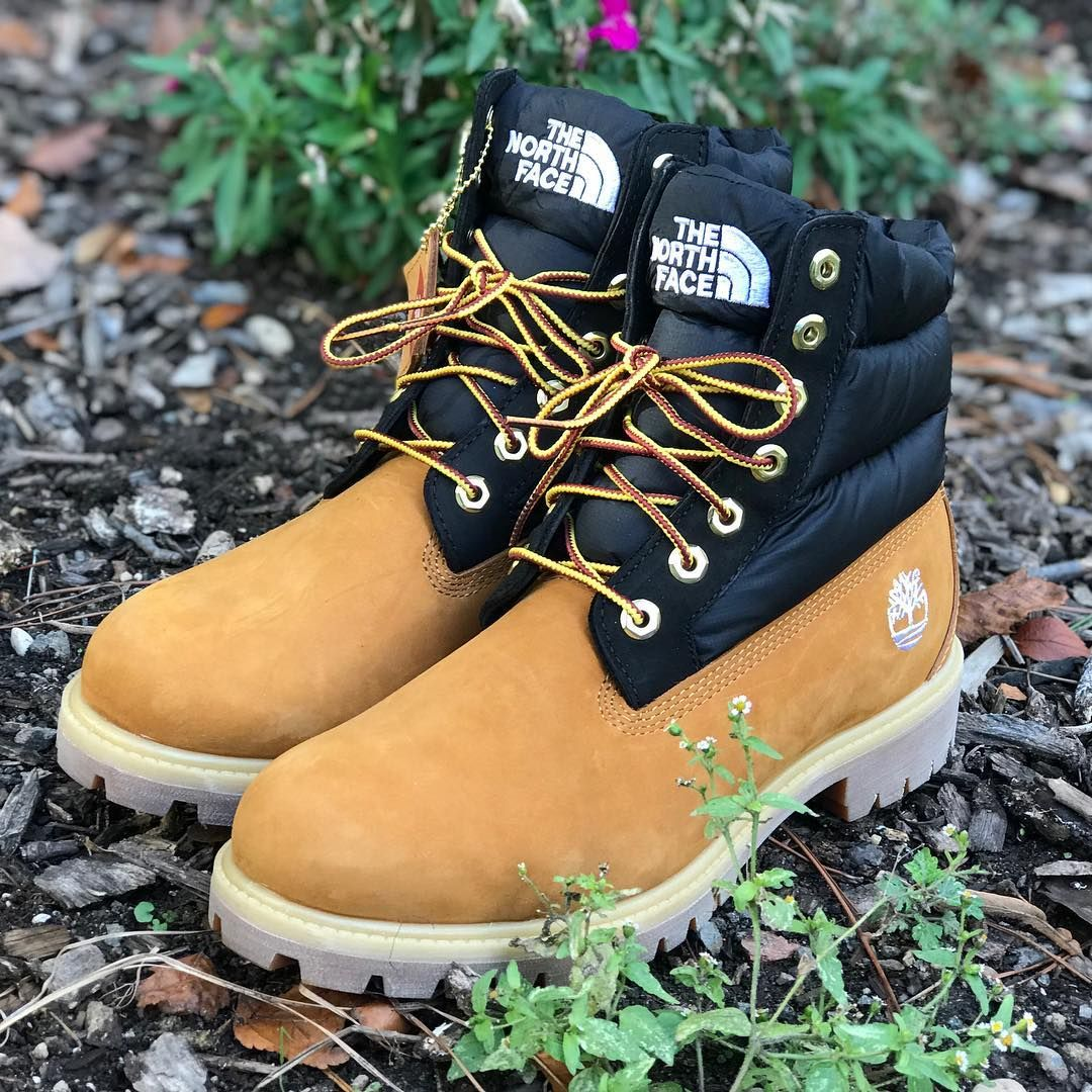 North face boots, Timberland boots