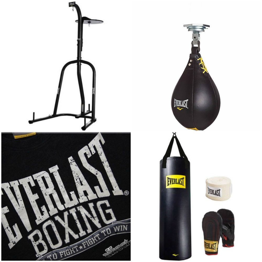 Everlast dual station heavy bag stand 100 lb punching kit