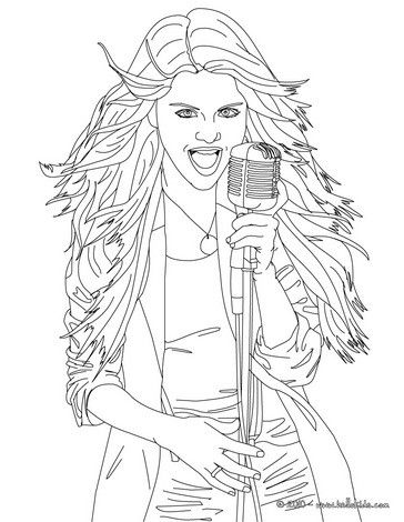 Selena Gomez Singer Coloring Page Coloring Pages Selena Gomez