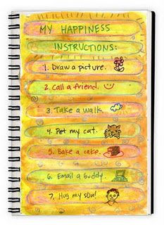 Art Journal - a list of what makes me happy-LOVE this!!