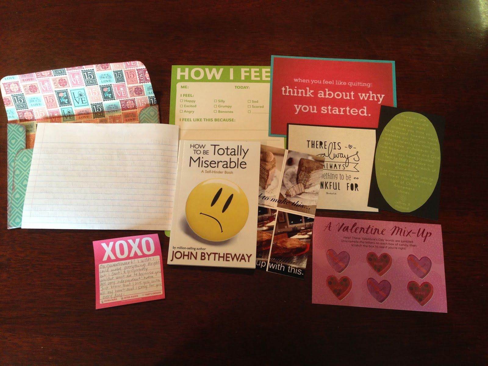 Open when letters and what to put in them gifts for Diy sentimental gifts