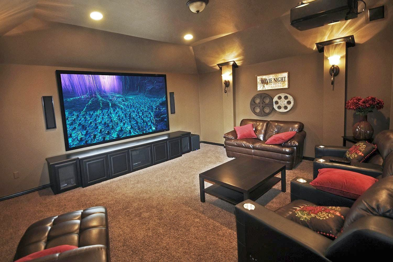 Small Movie Room Ideas Interior Home Design Details Http Www