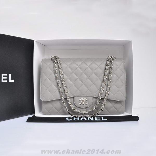 Caviar Leather Jumbo Flap Bag