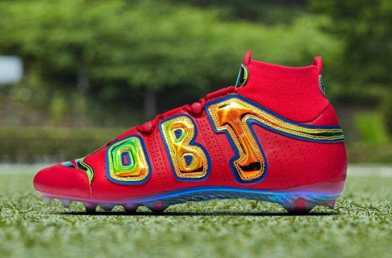 Check Out The Nike Vapor Untouchable Pro 3 Obj Uptempo Bright Lights Dr Wong Emporium Of Tings Web Magazine Custom Football Cleats Beckham Jr Odell Beckham Jr