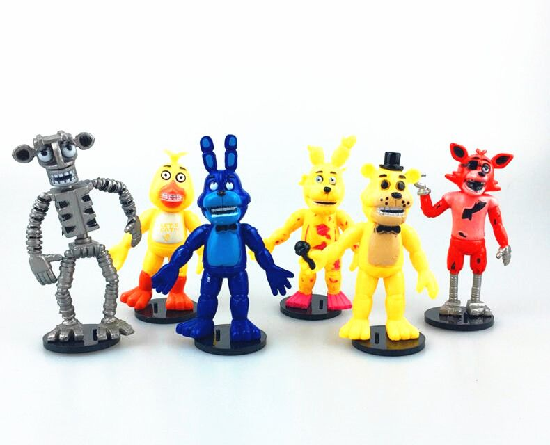 $9.70 (Buy here: http://appdeal.ru/55t9 ) New 6pcs/lot Five Nights At Freddy's FNAF Action Figure Freddy Fazbear Bear Foxy Bonnie Chica Kids Toys for just $9.70