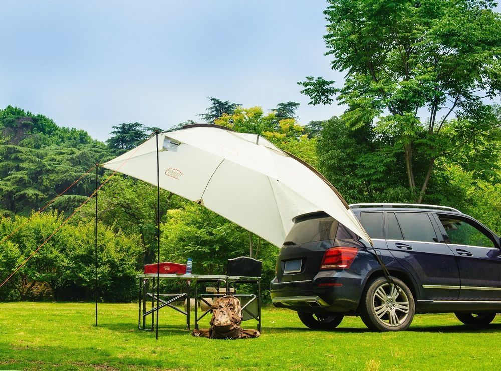 Car Side Tent Durable Family Sun Shelter Rooftop Vehicle
