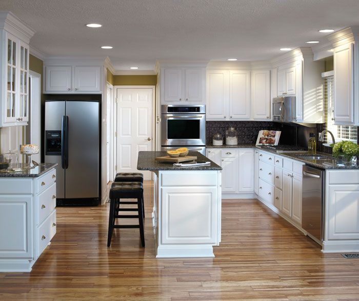 White Kitchen Cabinets Maintenance: Simple Detail And Easy-care Durability Make These Augusta