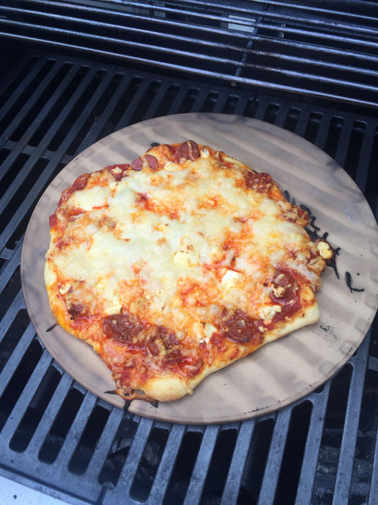 Gestern Haben Wir Mal Wieder Pizza Gegrillt Wobei Für Das Rezept
