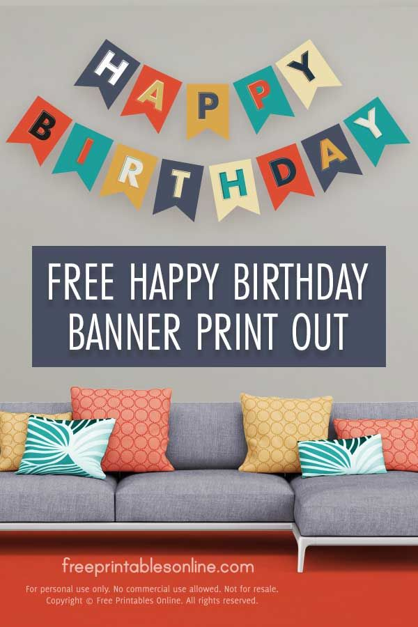 Photo of Happy Birthday Banner Print Out