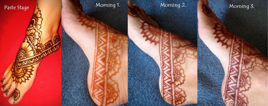 Phases colour foot henna
