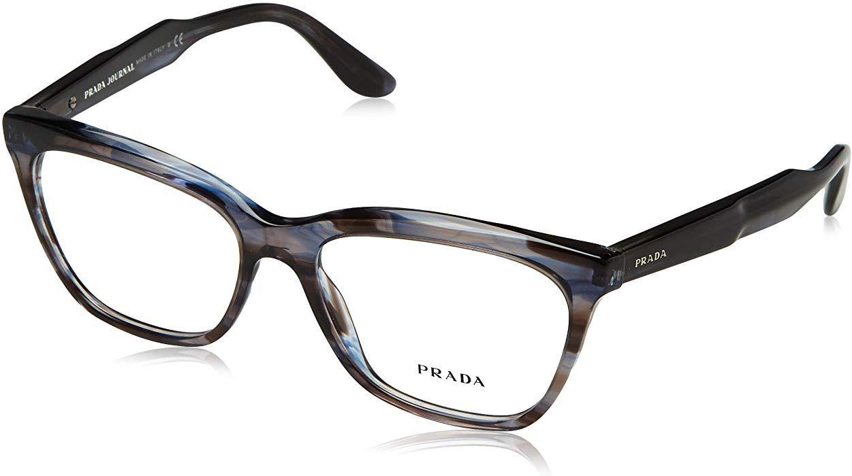 5196080d4f Amazon.com  Prada JOURNAL PR24SV Eyeglass Frames UEQ1O1-55 - Striped Violet  PR24SV-UEQ1O1-55  Clothing