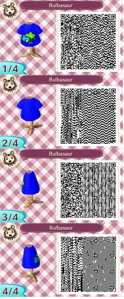 Animal Crossing Qr Codes Pokemon Bulbasaur Shirt With Strongest