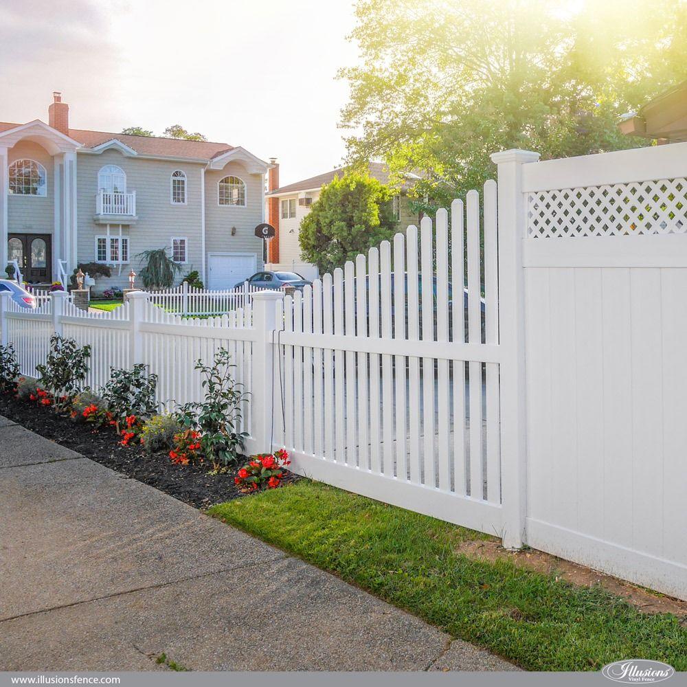 42 Vinyl Fence Home Decor Ideas For Your Yard Illusions Fence Vinyl Fence White Vinyl Fence Front Yard Fence