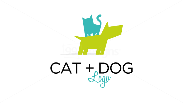 Cat Dog Logo Ready Made Logo Designs 99designs Gato Vetor