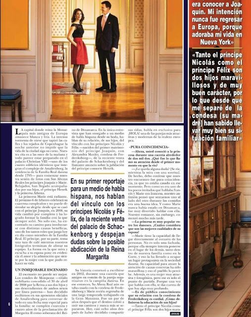 Prince Joachim of Denmark and Princess Marie of Denmark gave an interview to Hola! magazine. The interview presents the family life of the couple. This interview was made on the occasion of 40th birthday of Princess Marie.