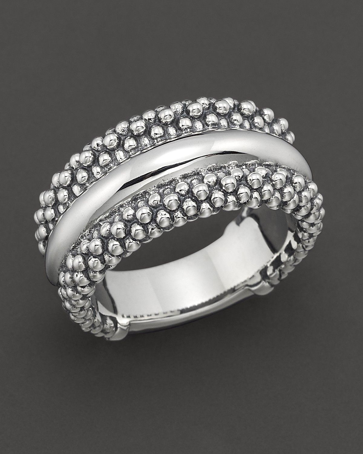 """Lagos Sterling Silver """"Caviar"""" Ring Jewelry, Fine"""