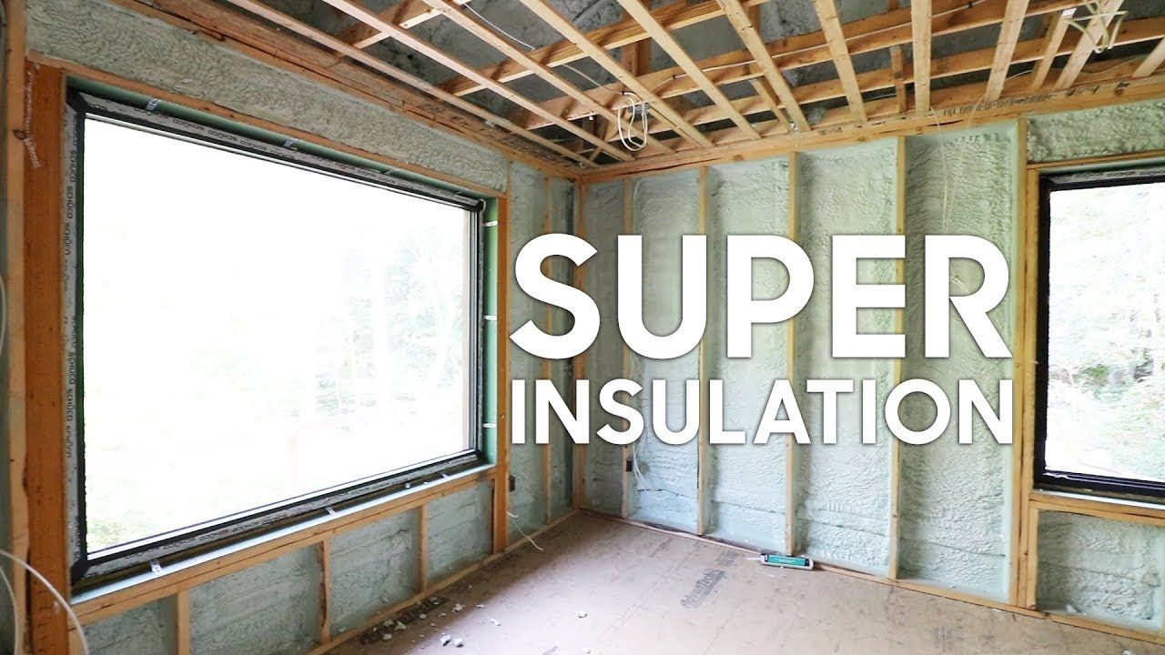 This House Has Some Crazy Insulation Details Home Building Tips House In The Woods Super Insulation