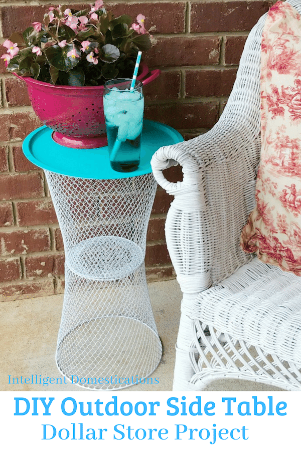 DIY Wire Basket Outdoor Table - Intelligent Domestications