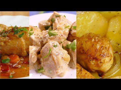 4 Recetas De Pollo Faciles Y Rapidas De Hacer Youtube En 2020 Pollo Fácil Recetas De Pollo Faciles Receta De Ensalada De Atún