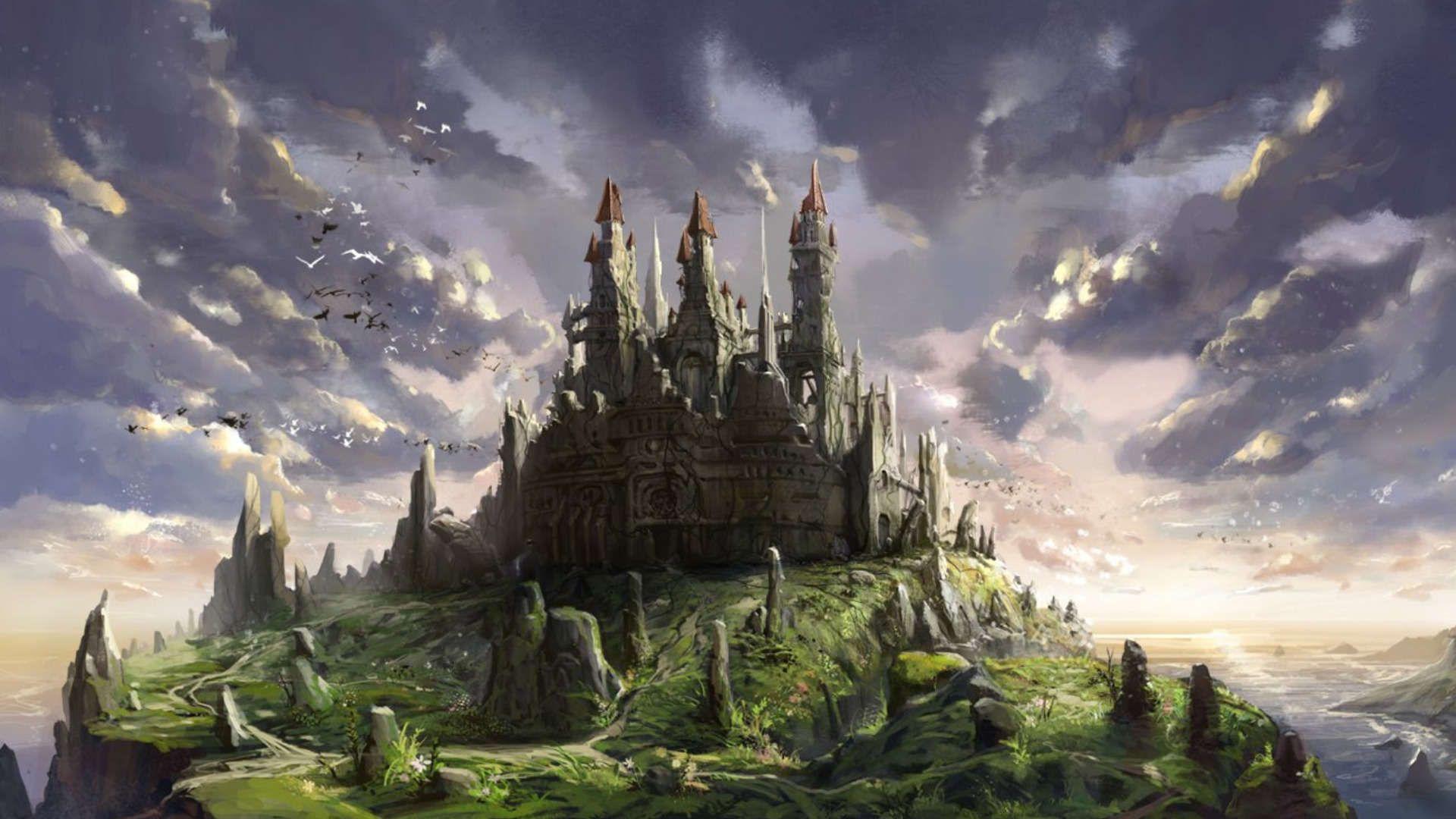 Фэнтезийный замок картинки