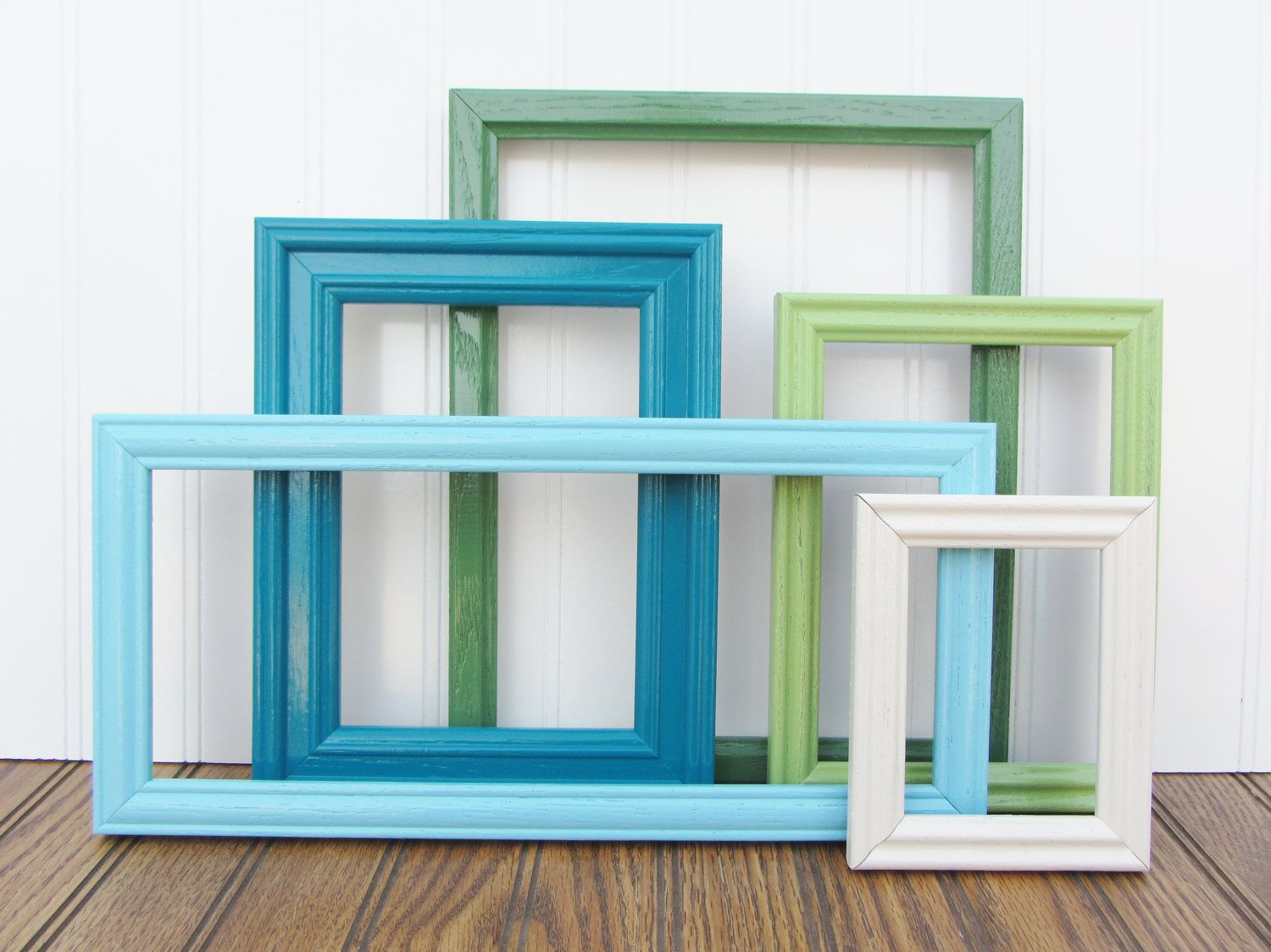Painted Frame Set of 5 Upcycled Vintage Gallery Wall Frame Set ...